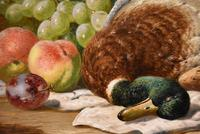 """Oil Painting Pair by Charles Thomas Bale """"Fruit and Game Larder Scenes"""" (8 of 10)"""