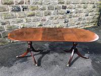 Antique Mahogany Twin Pillar Extending Dining Table (8 of 11)