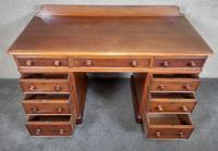 Victorian Mahogany Twin Pedestal Desk (3 of 9)