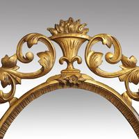 Antique Carved Oval Gilt Mirror (4 of 7)