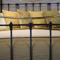5ft Black Art Nouveau Brass and Iron Bed (7 of 7)