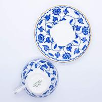 Blue and White Spode Miniature Cup and Saucer (5 of 5)
