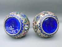 Pretty Pair of Chinese Cloisonne Champleve Vases (8 of 9)