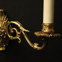 French Pair of Brass Wall Sconces c.1930 (7 of 10)