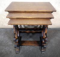 Oak Nest of Three Graduated Tables by GT Rackstraw Furniture (3 of 9)