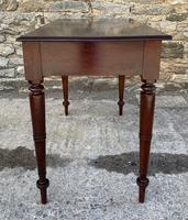 Antique Victorian Mahogany Two Drawer Side Table (8 of 20)