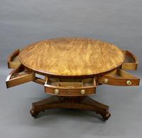 William IV Mahogany Drum Table (6 of 6)
