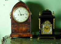 Rare Miniature Fusee Verge Bracket Mantle Clock - Made by John Johnson, London (12 of 12)