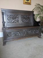 Victorian Carved Oak Settle (4 of 6)