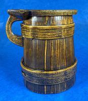 19th Century Beech & Pine Treen Tankard (5 of 11)