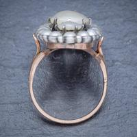 Antique Georgian Natural Pearl Diamond Ring Silver 18ct Gold c.1820 (3 of 4)