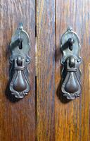 Oak 3 Door 1930s Vintage Bookcase with Keys (6 of 22)