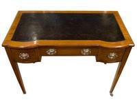Inlaid Mahogany & Satin Banded Writing Table (4 of 7)