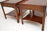 Pair of Georgian Style Mahogany Side Table c.1950s (8 of 12)