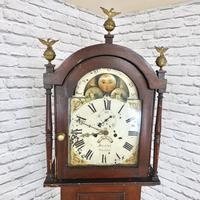 Painted Pine Cornish Longcase Clock (3 of 11)