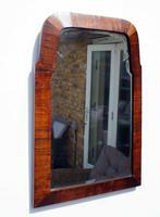 Small Early 20th Art Nouveau Rosewood Wall or Pad  Mirror (10 of 11)