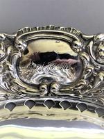 Lovely Edwardian Pierced Silver Trinket Dish (4 of 7)