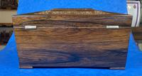William IV Rosewood Tea Caddy With Mother of Pearl Inlay (7 of 15)