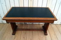 Leather Top Library Table (9 of 9)