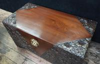 Early 20th Century Oriental Carved Teak and Camphor Wood Chest (3 of 11)