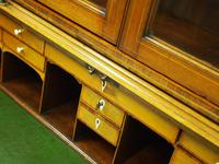 George III Inlaid Mahogany Cylinder Cabinet Bookcase (11 of 17)