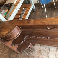 Pair of Unusual Vintage French Oak Bedside Shelf Units (3 of 9)