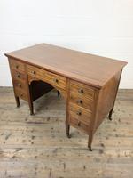Antique Edwardian Mahogany Writing Desk (10 of 12)