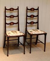 Pair of Beechwood Art Nouveau Chairs (2 of 10)