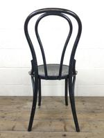 Set of Four Ebonised Bentwood Café Chairs (10 of 14)