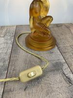 Art Deco Walther And Sohne Glass Table Lamp, Circa 1930's, Rewired And Pat Tested (9 of 10)