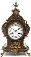 Magnificent French 8-day Mantle Clock Walnut Boulle Striking Mantle Clock (8 of 11)