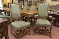 English Blonde Oak Dining Table  and 10 Matching Chairs (6 of 6)
