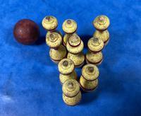 19th Century Skittles Game in Tunbridge Ware White Wood Painted Egg (8 of 21)