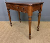 Victorian Mahogany 2 Drawer Side Table (9 of 12)