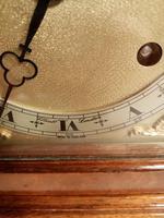 Burr Walnut Mantel Clock. Elliottt of London (6 of 7)
