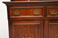 Antique Victorian Inlaid Mahogany 2 Section Bookcase (10 of 11)