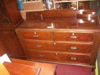 Two Over Two Drawer Mahogany Sideboard (2 of 3)