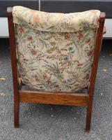 1930s Oak Arts and Craft style Armchair with Floral Upholstery (3 of 3)