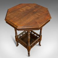 Antique Lamp Table, English, Walnut, Octagonal, Side, Games, Edwardian c.1910 (6 of 10)