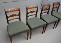 Set of Four Regency Mahogany & Brass Inlaid Dining Chairs (8 of 10)