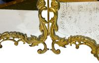 French Gilt Bronze Rococo Style Table Mirror (5 of 6)