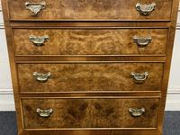 Burr Walnut Cupboard Over Chest (4 of 15)