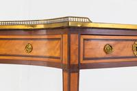 19th Century French Mahogany & Satinwood Console Table (4 of 9)