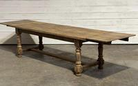 Nice Large Bleached Oak Farmhouse Dining Table With Extensions (34 of 35)