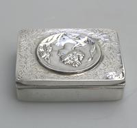 Superb Solid Silver Art Nouveau Maiden Table Snuff Box P Bryk c.1902 (5 of 8)
