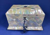 Victorian Mother of Pearl Jewellery Box.