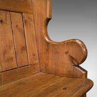 Antique Hallway Bench, English, Pine, Reception, Pew, Ecclesiastic, Victorian (11 of 12)