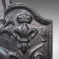 Antique Fire Back, English, Cast Iron, Decorative, Fireplace, Victorian c.1900 (8 of 12)