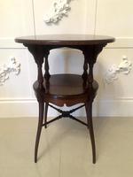 Antique Victorian Mahogany Lamp Table