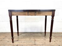 19th Century Mahogany & Boxwood Fold Over Table (9 of 10)